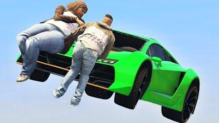 FLYING CARS vs. RUNNERS! (GTA 5 Funny Moments)