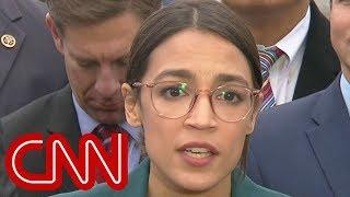 "Ocasio-Cortez shrugs off Pelosi's comments on ""Green New Deal"""
