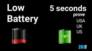 battery charge in 5 seconds(prove 100% charge)