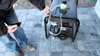 Generator running on gasoline vapor. No carburetor. Increased fuel efficiency.