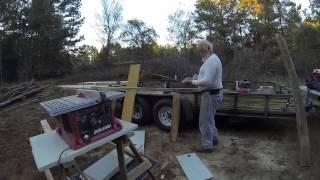 Building a solar kiln