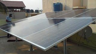 Solar panel installation in India (Bangalore) - PLASMASOLAR