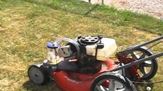 Lawn Mower Running On Gasoline Vapor