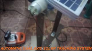 AUTOMATIC DUAL AXIS SOLAR TRACKING SYSTEM