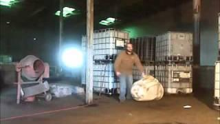 Plastic 55 gallon drum explosion using compressed air