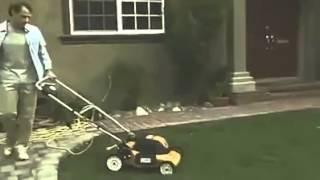 Man vs Lawn mower