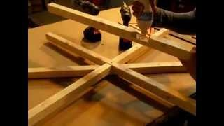 Solar Oven Terracotta Flower Pot Cooker Part 1 DADO CUT with a Miter Chop Saw