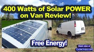 400 Watt Solar System Camper Van Review - Thin Solar Panels on Roof