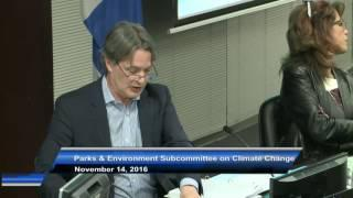 Parks and Environment Subcommittee on Climate Change Mitigation and Adaptation - November 14, 2016