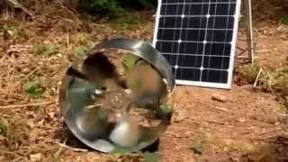 Solar kiln fan test