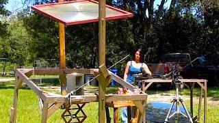 Fresnel Lens seafood pasta Alfredo solar cooking parabolic mirror