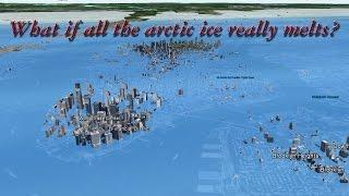 Earth under 60 meters (216ft) of water if all arctic ice melts.
