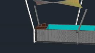 Container Pool with Shade