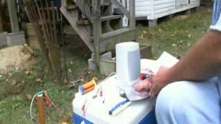 Fox Hole Radio Rodin Coil 180 Signal Generator.wmv
