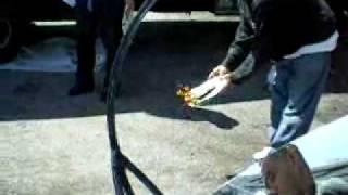 Solar Beam Boiler testing 1