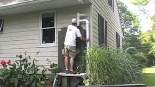 Rain Water Hog install NJ Water Harvesting Rain Barrel