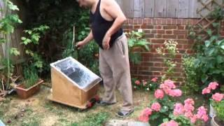 Home made solar oven cooks chicken.
