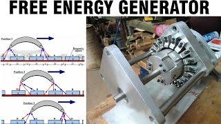 Free Energy Generator - Howard Johnson Permanent Magnet Motor