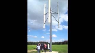 SpinWind 10kW - Windkraftanlage der Firma WindTec Darrieus H-Rotor
