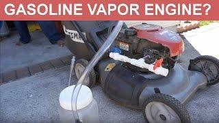 Engine Running on  Gas Vapor and Air - Build from Start to Finish