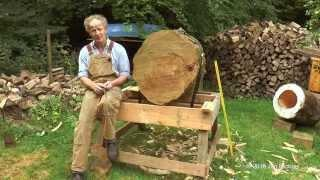 The making of a log hive - Treatment Free Tree Beekeeping in  Great Britain