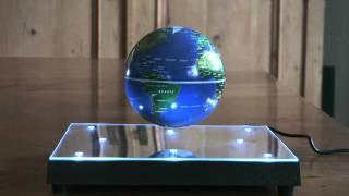 Floating globe, magnetic levitation,  HD 1080p