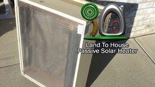 Passive Solar Heater Test 1