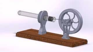 Lamina flow Stirling engine - SolidWorks preview