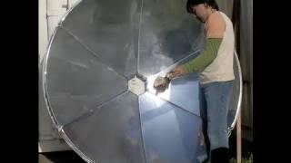 "DIY SOLAR COOKER 70"" SOLAR SATELLITE DISH DIY NATURAL Solar Dog Food"