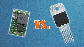 Buck converter vs. linear voltage regulator - practical comparison