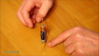 Магнит, батарейка, рамка. Пояснения. Battery, frame, Homopolar Motor.