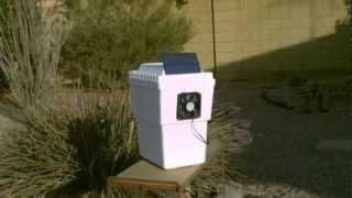 "Homemade air conditioner - solar powered air cooling (35F-40F) - ""personal sized"" DIY air cooler"