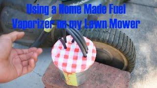 Using a Homemade Fuel Vaporizer on my Lawn Mower