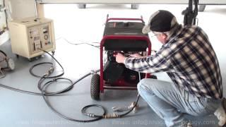 Power generator running on 100% hho only test www.HHOFACTORY.com