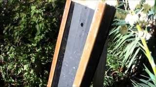 Solar Air Heater Test - 145 F Temps - Green house heater -  DIY solar thermal furnace