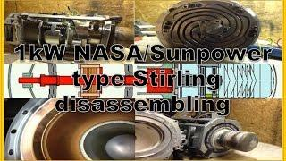 1kW Stirling Free Piston Generator disassembling