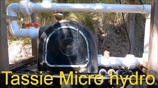 Tasmanian Micro Hydro Power Station In mountains