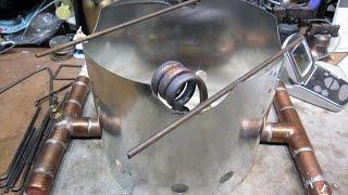 """The Acosta"" - Copper Coil Alcohol Stove - Boil Test (Sorta)"