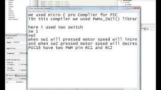 DC Motor Speed Control Using PWM with PIC 16 F877A
