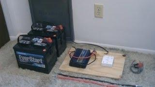How to hook up Solar Panels (with battery bank) - simple 'detailed' instructions - DIY sol