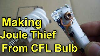 Making Joule Thief From CFL Bulb