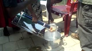 First Solar Water Boiler Cooking Experiment - Hard Boiled Eggs