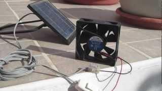 Solar Panel + Fan for ventilation