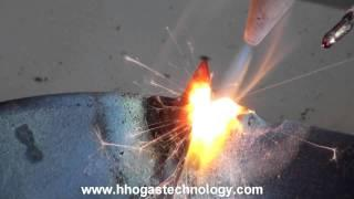 HHO Gas Welding-Cast-Iron Pan And Steel Nail Welding Demonstration