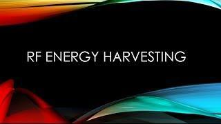 RF energy harvesting:Aswan