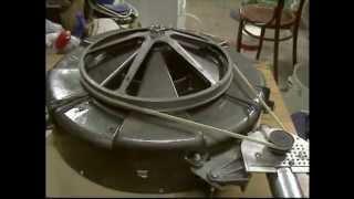 Camping Sun Tracker using washing machine tub