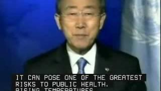 UN Secretary-General Ban Ki-moon Addresses Health Impacts of Reducing Greenhouse Gas Emissions