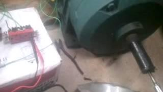 3 phase motor converted to generator