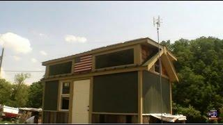 How to wire a tiny house Off Grid with Solar power, Wind power and DC water heating