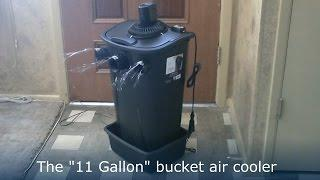 "Homemade Air Conditioner DIY - The ""11 Gallon Bucket"" Air Cooler! DIY- can be solar powered!"